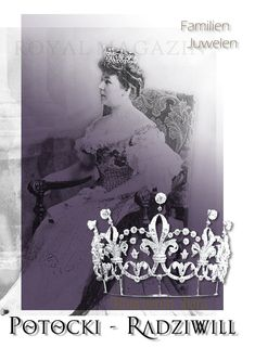 Elisabeth Princess Radziwill, married Count Potocki in 1889. As one of her wedding presents she got this Boucheron Tiara, which was similar to the Tiara of Viceraine of India Mary Lady Curzon made by Boucheron Paris in 1898 for Engl Pound 1400 #tiara #diadem #boucheron