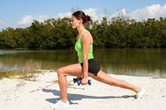Thigh Lunge exercise is the best for women health fitness. Weight Lifting Workouts, Weight Training, Fun Workouts, Circuit Training, Strength Training, Fitness Nutrition, Fitness Tips, Workout Fitness, Fitness Exercises