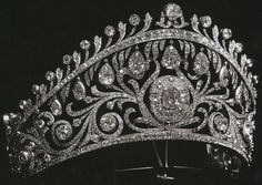 Princess Elena of Greece's Diamond Tiara made by Cartier for then Grand Duchess Elena Vladimirovna of Russia and later owned by Princess Olga of Yugoslavia