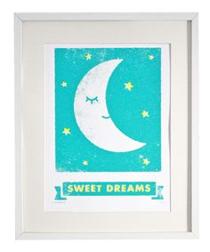 Take a look at this 'Sweet Dreams' Screen Print on zulily today!