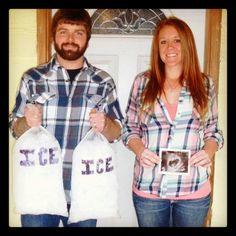 Pregnancy reveal Ice Ice Baby
