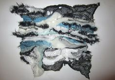 AS GOOD AS KNIT GETS: Large manipulated knitted fabric...