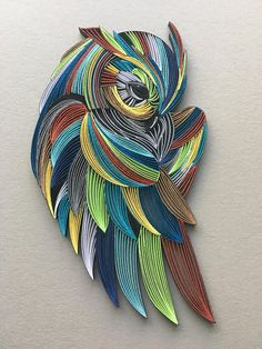 Owl Bird Quilling Wall Art 1/83mm paper strips