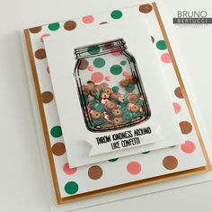 Bruno Bertucci | Stampin Up | stampinbruno | Jar of Love | Everyday Jars | Good Vibes Project Life Accessory Kit | Shaker Card | Foam Adhesive Strips | Copper Foil Sheet | Copper Stampin Emboss Powder | Handmade Card