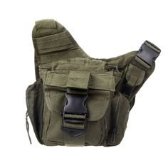 14.58$  Buy here - http://aiaxl.worlditems.win/all/product.php?id=H9767DGR - Molle Tactical Shoulder Strap Bag Pouch Travel Backpack Camera Military Bag Army Green