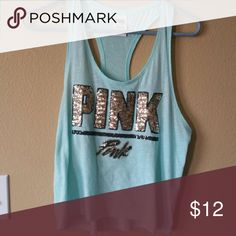 PINK tank top Worn a few times. Great condition! PINK Victoria's Secret Tops Tank Tops