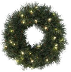 Star 30 'Russian Pine' LED Wreath Colour Box, Warm White -- Click image to read more details. #GardenDecor
