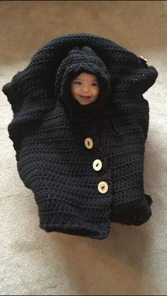 Car Seat Cover Poncho  Crochet Pattern by MamasClipsAndCrochet