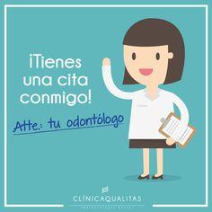 ¡Tienes una cita conmigo! Atte: Tu odontólogo.  #humor #dental #odontologia #firstdates #dentista