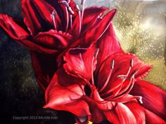 Michelle East - Artist  Amaryllis Watercolor Painting