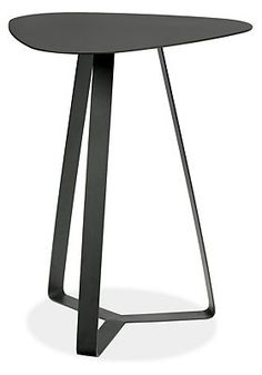 Pip End Table in Natural Steel - End Tables - Living - Room & Board