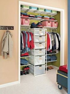 Organizing Ideas for Kids Closet