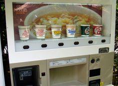 Ramen Instant Noodles Vending Machine In Japan