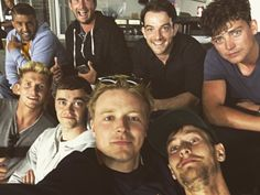 """Aug 29: @JALowden.tw """"A night in the box watching LA Galaxy"""" (soccer match) -- includes cast mates, Brian Vernel, Aneurin Barnard.."""