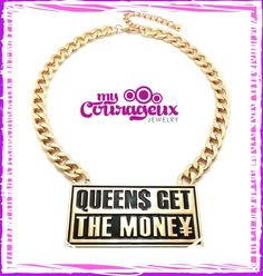 Queen$ Get The Money in Silver & Gold Order Right Now!!! www.mycourageuxjewelry.com  #mycourageuxjewelry #marketing #advertising #accessories #bold #queennecklaces #necklaces #goldnecklaces #branding #building #business #silvernecklaces #unique #different #diva #fashion #networking #socialmedia #website #shoppingonline #onlineshopping