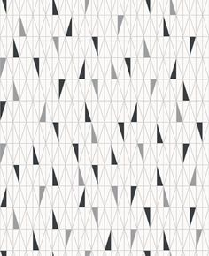 Scandinavian Designers (2754) - Boråstapeter Wallpapers - A stunning all over geometric design of symmetrical triangles. Shown here in black and grey on a white background - more colours are available. Please request a sample for true colour match. Paste-the-wall product.