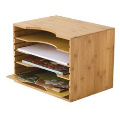 Lipper International File Organizer with 4-Dividers