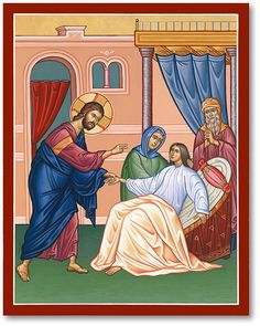 Monastery Icons offers the a wonderful selection of inspirational icons of Christ, such as this Christ the Healer Icon. Religious Images, Religious Art, Jairus Daughter, Monastery Icons, Life Of Christ, Little Brothers, Byzantine Icons, Icon Collection, Jesus Cristo