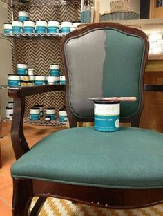 Painting upholstered furniture.