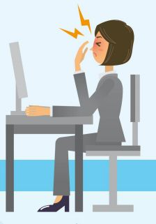 Digital Eye Strain/ Eye Fatigue -Red, irritated eyes;  Dry eyes;  Intermittent blurred vision when viewing your screen or device;  Blurred distance vision when looking away from your screen or device;  Headaches;  Neck and/ or back pain.