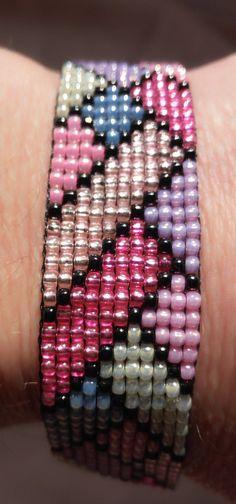 Embroidery Bracelets Patterns Rainbow bracelet wowen on loom summer bracelet toho jewerly Loom Bracelet Patterns, Seed Bead Patterns, Bead Loom Bracelets, Bracelet Crafts, Jewelry Patterns, Beading Patterns, Beading Ideas, Beading Supplies, Embroidery Bracelets