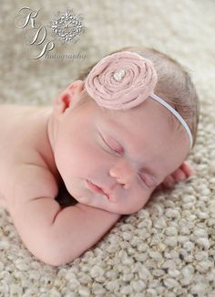 Rolled rosette headband / Rolled rosette clip / Photo prop