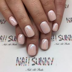 50 Trendy Nail Art Designs to Make You Shine -Understated Glossy Nude Nails For You Nude Nails, My Nails, Acrylic Nails, Gold Nails, Coffin Nails, Colorful Nail Designs, Nail Art Designs, Nails Design, Manicure Y Pedicure