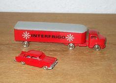 LEGO 1:87 657 Mercedes Truck Interfrigo + Ford Taunus 17m deluxe Modellautos 60e