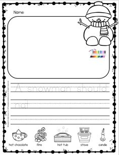 SNOWMAN Writing Prompt for Sneezy the Snowman - Kindergarten Teacher 2020 Kindergarten Drawing, Kindergarten Language Arts, Kindergarten Centers, Kindergarten Lessons, Kindergarten Classroom, Classroom Activities, Art Therapy Activities, Writing Activities, Sneezy The Snowman