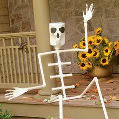Skeleton #decoration #halloween #craft- We made this also! LOVE BONES the SKELETON!