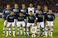 Equipo del fútbol argentino con copa del mundo