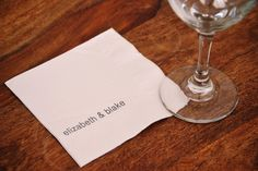 Personalized Paper Cocktail Napkins First Names by theHELLOtote