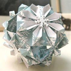 Origami snowflake box