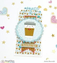 Doodlebug Design Inc Blog: Cream & Sugar Collection: Love You Layout with Tutorial Video by Anita Bownds