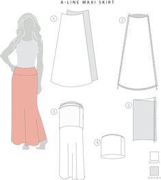 maxi skirt pattern.  Hello simple