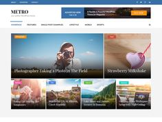 Metro Magazine is a current responsive magazine style WordPress theme reasonable for news, daily paper, magazine, sports, innovation, sustenance, travel, online journals, distributing, business and any sort of locales. It...