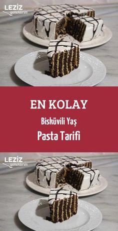 En Kolay Bisküvili Yaş Pasta Tarifi - Leziz Yemeklerim - galletas - Las recetas más prácticas y fáciles Easy Easter Recipes, Cake Recipes For Kids, Fun Easy Recipes, Pie Recipes, Kids Meals, Easy Meals, Cake Recept, Herb Roasted Turkey, Walnut Cake