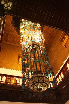 Chandelier at the Mena House Oberoi Giza Cairo Egypt - TravelXena.com