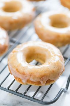 Vanilla Bean Glazed Honey Cake Doughnuts | GI 365