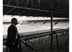 Shankly on the kop. 21st August 1964