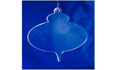 Blank Acrylic Christmas Ornament pattern three, 3.5 x 4 inches set of 25