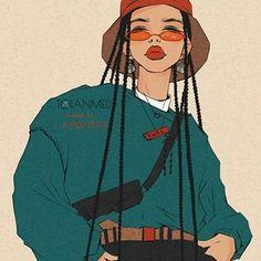 22 Super Ideas for fashion art illustration artworks beautiful Arte Dope, Dope Art, Art Sketches, Art Drawings, Art Afro, Illustration Mode, Black Girl Art, Black Girl Cartoon, Aesthetic Art