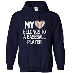 My heart belongs to a BASEBALL player T-Shirts, Hoodies. ADD TO CART ==►…