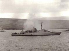 HMS Antelope. 23 May 1982. Falkland Islands