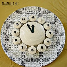 A clock cake is the perfect New Year's Eve Dessert!