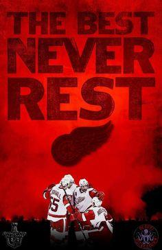 Detroit Red Wings never rest! Blackhawks Hockey, Hockey Mom, Hockey Teams, Sports Teams, Ice Hockey, Detroit Hockey, Detroit Sports, Detroit Michigan, Go Red