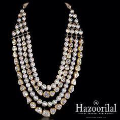A modern statement . #hazoorilaljewellersGK #hazoorilalbysandeepnarang #hazoorilal #pearls #polki #necklace