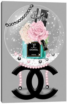 Chanel Wall Art, Canvas Prints & Paintings   iCanvas Chanel Wall Art, Chanel Decor, Chanel Canvas, エルメス Apple Watch, Canvas Art Prints, Canvas Wall Art, Chanel Wallpapers, Mode Poster, Turquoise Fashion