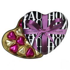 Pinke und goldene Herzpralinen aus dem Luxus-Feinkost Laden FAUCHON aus Paris  http://www.blissany.com/experten/blissany-loves/fauchon-herz.html