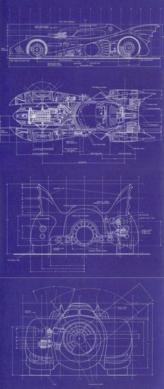 Batmobile 1989 - Blueprints